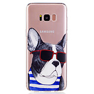 olcso Galaxy S7 tokok-Case Kompatibilitás Samsung Galaxy S8 Plus S8 Minta Fekete tok Kutya Rajzfilm Puha TPU mert S8 Plus S8 S7 edge S7 S6 edge S6