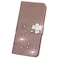 Недорогие Чехлы и кейсы для Galaxy Note-Кейс для Назначение SSamsung Galaxy Note 8 Note 5 Бумажник для карт Кошелек Стразы со стендом Флип Магнитный С узором Рельефный Чехол