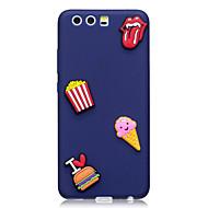 お買い得  携帯電話ケース-ケース 用途 Huawei パターン DIY バックカバー 食べ物 ソフト TPU のために P10 Plus P10 Huawei