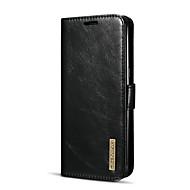 お買い得  -ケース 用途 Samsung Galaxy S8 カードホルダー スタンド付き フリップ フルボディーケース 純色 ハード 本革 のために S8 Plus S8 S7 edge
