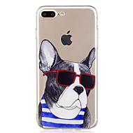 Недорогие Сегодняшнее предложение-Кейс для Назначение Apple iPhone X / iPhone 8 С узором Кейс на заднюю панель С собакой / Мультипликация Мягкий ТПУ для iPhone X / iPhone 8 Pluss / iPhone 8
