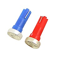 2adet 1w dc12v kırmızı bule t5 1cob kontrol lambası dekoratif lamba okuma lambası plaka lambası kapı lambası