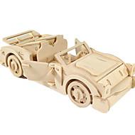 abordables Maquetas y Juguetes de Construcción-Coches de juguete Puzzles 3D Puzzle Maquetas de madera Aeronave Coche 3D Manualidades Madera Clásico Chico Unisex Regalo
