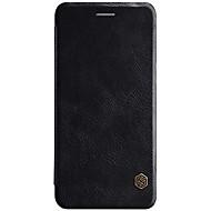 お買い得  携帯電話ケース-ケース 用途 OnePlus カードホルダー フリップ オートスリープ/ウェイクアップ フルボディーケース 純色 ハード PUレザー のために One Plus 5