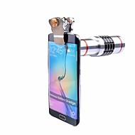 abordables Smartphone Fotografía-Clips universales lente telescópica óptica del telescopio 18x teleobjetivo lente de zoom para iphone 7 5 6 s samsung teléfono celular