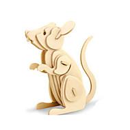 Χαμηλού Κόστους Αξεσουάρ για παιχνίδια και χόμπι-Παζλ 3D Παζλ Ξύλινα μοντέλα Δεινόσαυρος Αεροσκάφος Ποντίκι Ζώο 3D Φτιάξτο Μόνος Σου Ξύλινος Ξύλο Κλασσικό Παιδικά Γιούνισεξ Δώρο
