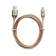 Lightning USB 2.0 Trenzado Normal Cable Para iPhone iPad cm Aluminio