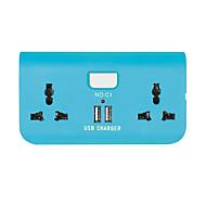 abordables Cargadores USB-Tira de alimentación 220v 2.0a 2 puertos usb 2 plug de conversión outietr plug uk