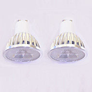 3W GU10 Żarówki punktowe LED MR16 3 Diody lED High Power LED Przysłonięcia Ciepła biel Biały 260-300lm 3000-3500/6000-6500K AC 220-240V