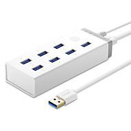 baratos Hubs USB-7 Portas Hub USB USB 3.0 Com adaptador de alimentação Hub de dados