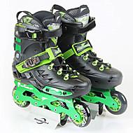 インラインスケート 手ぶれ補正 高通気性 調整可能 ABEC-7 - ホワイト/ブラック