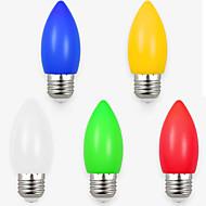 1.5W LED gyertyaizzók 8 led SMD 2835 Dekoratív Fehér Piros Kék Sárga Zöld 70-100lm 495-585-700K AC 220V