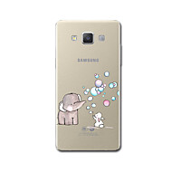 hoesje Voor Samsung Galaxy A5(2017) A3(2017) Transparant Patroon Achterkantje Cartoon Olifant Zacht TPU voor A3 (2017) A5 (2017) A7
