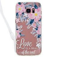 hoesje Voor Samsung Galaxy S8 Plus S8 Transparant Patroon Achterkantje Woord / tekst Transparant Bloem Hard Acryl voor S8 S8 Plus S7 edge