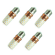 お買い得  LED コーン型電球-5個 8W 800lm E27 LEDコーン型電球 T 60 LEDビーズ SMD 2835 温白色 ホワイト 85-265V