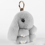 abordables Adorno de Móvil-bolso / teléfono / encanto de llavero juguete de dibujos animados rex encantos de teléfono celular de piel de conejo