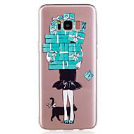 Для samsung galaxy s8 plus s8 phone case tpu материал девушка узор окрашенный телефон кейс s7 край s7 s6 край s6