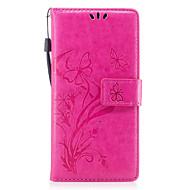 Кейс для Назначение SSamsung Galaxy S8 Plus S8 Кошелек Бумажник для карт со стендом Флип Рельефный С узором Магнитный Чехол Бабочка Цветы