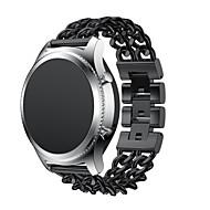Недорогие Аксессуары для смарт-часов-Ремешок для часов для Gear S3 Classic / Gear S3 Classic LTE Samsung Galaxy Классическая застежка Нержавеющая сталь Повязка на запястье
