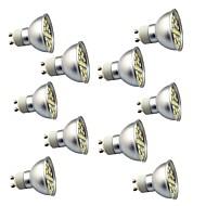 お買い得  LED スポットライト-10個 3W 350lm GU10 LEDスポットライト 29 LEDビーズ SMD 5050 装飾用 温白色 クールホワイト 220V
