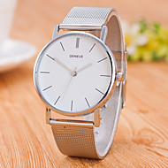 Men's Quartz Wrist Watch Chinese Stainless Steel Band Casual Minimalist Fashion Silver