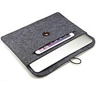Hebilla de madera fieltro PC tableta bolsa forrada con forro manta 12 pulgadas