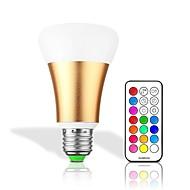 halpa LED-älylamput-10W LED-älyvalot 32 ledit Integroitu LED Himmennettävissä Kauko-ohjattava Koristeltu RGB + Lämmin RGB + valkoinen 550lm 2700-6000K AC