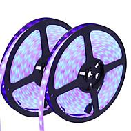 お買い得  -HKV フレキシブルLEDライトストリップ 300 LED RGB カット可能 調光可能 防水 変色 ノンテープ・タイプ 接続可 DC 12V