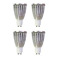 お買い得  LED スポットライト-4本 6W 480lm GU10 LEDスポットライト MR16 1 LEDビーズ COB 温白色 / ホワイト 220-240V / 4個
