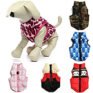 cheap Household & Pets Accessories-Cat Dog Coat Vest Dog Clothes Camouflage Skull Red Blue Pink Camouflage Color Red/White Cotton Costume For Pets Men's Women's