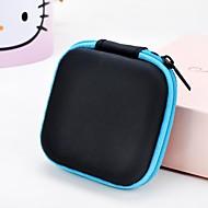 abordables Almacenamiento de escritorio-1 bolso del almacenaje de la cremallera del auricular del cuadrado del color del soild de la PC