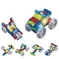 お買い得  おもちゃ & ホビーアクセサリー-DOUZHI 自動車おもちゃ LED照明 ブロックおもちゃ 74 pcs トラック トラック 男女兼用 男の子 女の子 おもちゃ ギフト / クリスタル