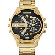 Недорогие Фирменные часы-WEIDE Муж. Наручные часы Японский / Нержавеющая сталь Группа На каждый день Золотистый