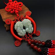 cheap Car Pendants & Ornaments-DIY Automotive Pendants Blessed Peace Pixie Car Decorative Fashion Jewelry Car Pendant & Ornaments Jade