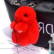الحقيبة / الهاتف / المفاتيح سحر الأرنب الكرتون لعبة ريكس الأرنب الفراء 14 سنتيمتر
