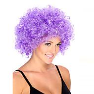 Недорогие Парики из искусственных волос-Парики из искусственных волос Без шапочки-основы Средний Кудрявые Фиолетовый Парик в афро-американском стиле Для темнокожих женщин Парики