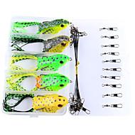 お買い得  釣り用アクセサリー-25 pcs カエル 炭素鋼 海釣り / ベイトキャスティング / 穴釣り / スピニング / ジギング / 川釣り / 鯉釣り / バス釣り