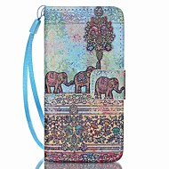 Case For Apple ipod touch 5 touch 6 Case Cover Card Holder Wallet with Stand Flip Pattern Full Body Case Elephant Hard PU Leather