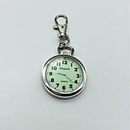 Heren Dames Sleutelhanger Horloge revers horloge Kwarts Grote wijzerplaat Legering Band Zilver