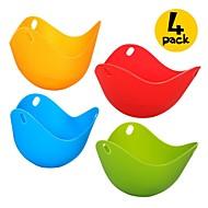 저렴한 -4 개 달걀 도구 For 계란에 대한 실리콘 새로운 도착 고품질