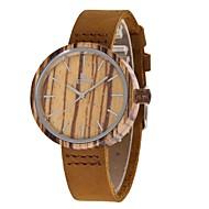 お買い得  -女性用 ファッションウォッチ 腕時計 ウッド 日本産 クォーツ 木製 本革 バンド チャーム カジュアル ブラウン