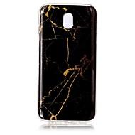 caso para Samsung galaxia j7 (2017) j5 (2017) cubierta imd patrón caso de la contraportada mármol suave tpu para j3 (2017)