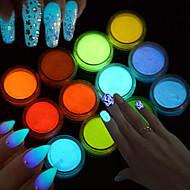 Arte Decorativa/Retro Chicas y Mujeres Jóvenes Fosforescente 3D Flash Suministros DIY Polvo Apoyo de manos para manicura