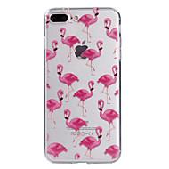 Назначение iPhone X iPhone 8 Чехлы панели Прозрачный С узором Задняя крышка Кейс для Фламинго Мягкий Термопластик для Apple iPhone X