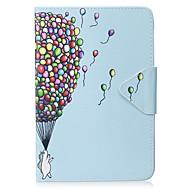 Hoesje voor ipad mini 1 2 3 mini 4 hoesje hoesje ballonpatroon pu materiaal triple tablet pc hoesje telefoon hoesje