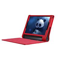お買い得  タブレット用アクセサリー-ケース 用途 Lenovo IdeaPad Lenovo フルボディケース スタンド付き フルボディーケース 純色 ハード PUレザー のために