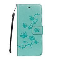 Кейс для Назначение SSamsung Galaxy S8 Plus S8 Кошелек Бумажник для карт со стендом Флип Рельефный Чехол Бабочка Цветы Твердый