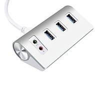 3 portas Hub USB USB 3.0 Micro-B Função de Armazenar Dados Protecção de Entrada Proteção contraSobrecarga Hub de dados