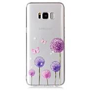 Недорогие Чехлы и кейсы для Galaxy S8 Plus-Кейс для Назначение SSamsung Galaxy S8 Plus S8 Прозрачный С узором Кейс на заднюю панель Бабочка одуванчик Мягкий ТПУ для S8 Plus S8 S7