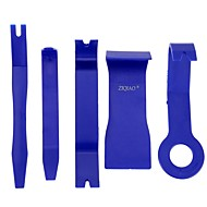 Ziqiao 5 pcs color azul diy plástico auto coche radio puerta panel panel guarnecido audio remoción pry kit herramientas